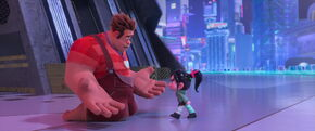 Vanellope furiously disowning Ralph