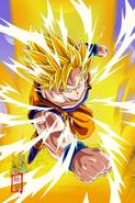 Goku ssj2 attack v2 by snakou-d9r0z23