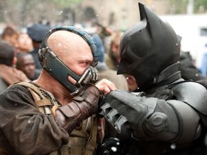 Batman fighting Bane