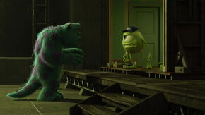 Mike and Sulley arguing