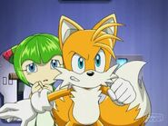 Tails Protecting Cosmo