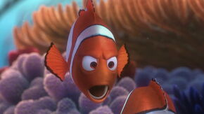 Marlin yells at Nemo
