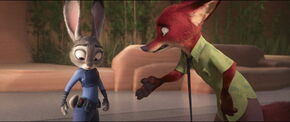 Nick Wilde's grudge to Judy Hopps