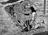 Popeye rescues Olive