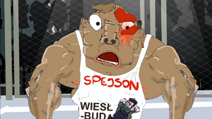 Spejon discovers that Mr. Wiesio is his father