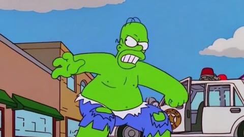 Homer Is The Incredible Hulk - The Simpsons
