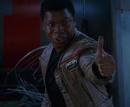 Finn giving BB-8 a thumbs up