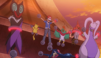 Ash and his team are now Team Flare's prisoners