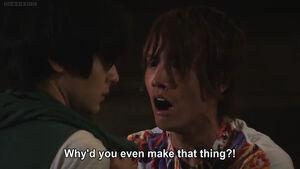 Ryuga scolds Sento