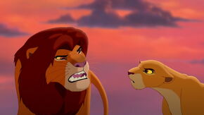 Kiara and Simba arguing