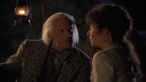 Back to the Future - PART III - Final Preparations - Doc & Clara's First Kiss -