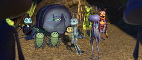 Flik and the Circus Bugs are heartbroken