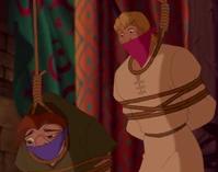 Quasimodo and Phoebus held prisoner