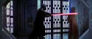 Obi-Wan's death by Darth Vader