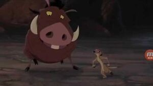 The Lion King 2 Timon and Pumbaa fight scene