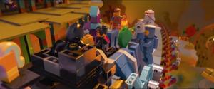 Emmet and friends escape