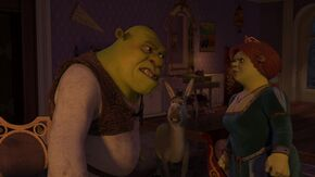 Shrek and Fiona arguing