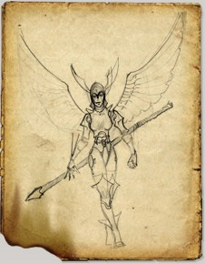 Raelin the Kyrie Warrior by Hokuten Knight