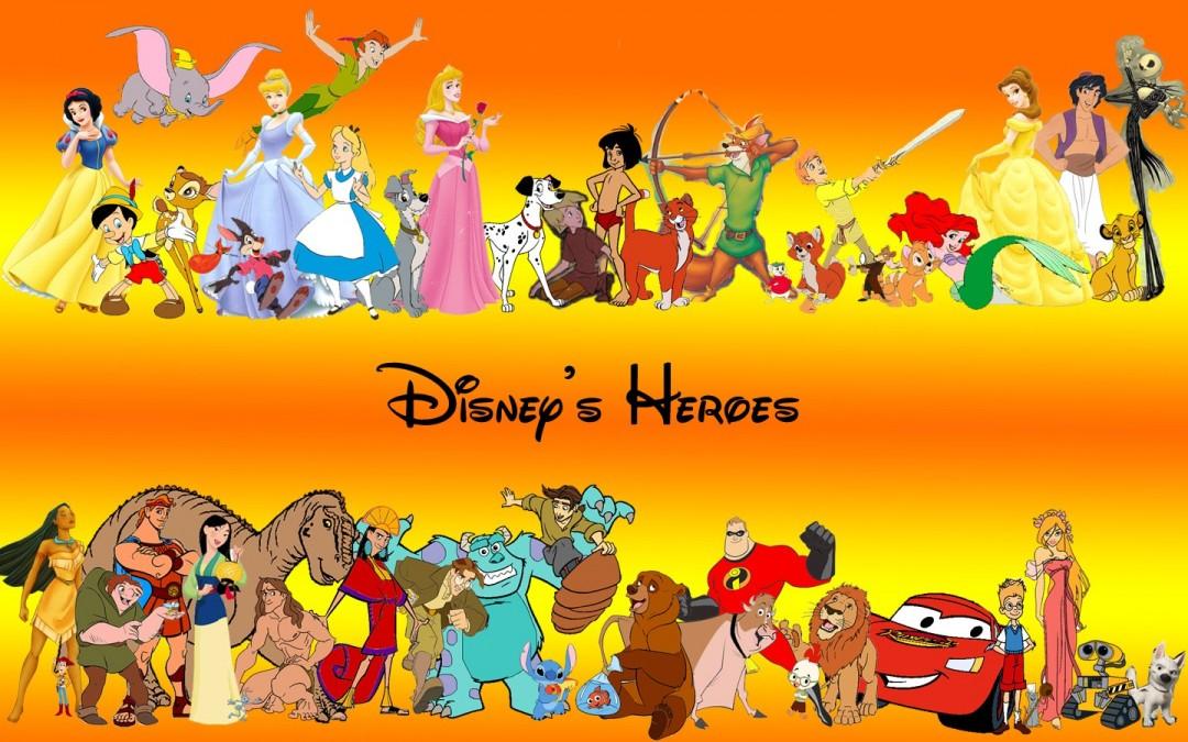 Walt Disney Heroes Characters HD Wallpaper 1080x675