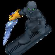 Dark surfer full body