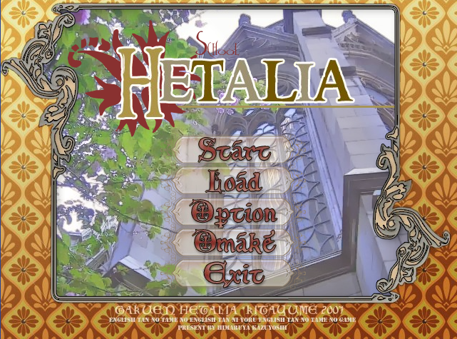 Hetalia dating sim english