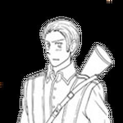 Germany in WWI uniform (Studio DEEN anime turnaround).