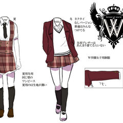 Girls' uniforms.