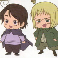 Baby Austria and Switzerland in the anime.