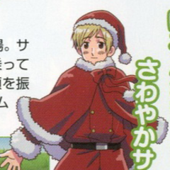 A full body design of Santa Finland from the anime.