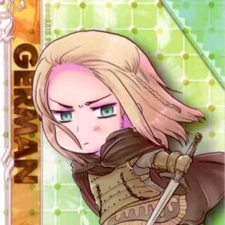 Chibi Germania in battle attire