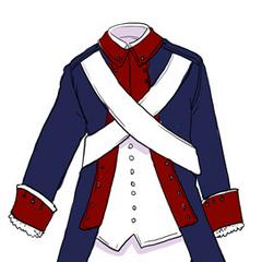 America's uniform from the Revolutionary War.
