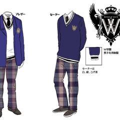 Boys' winter uniforms.