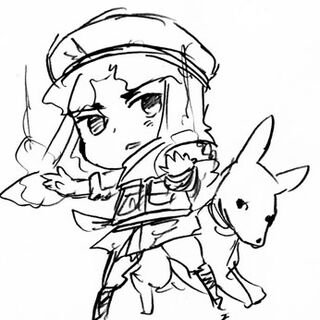 Early chibi sketch of Egypt