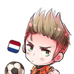Netherlands in soccer/football uniform, drawn for 2010 FIFA World Cup