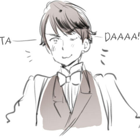 Mr. Puffin as a human from Himaruya's blog
