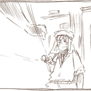Sketch of Egypt in a comic panel
