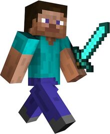 Minecraft-steve-with-sword-minecraft-steve-with-diamond-sword-by-jonnyman