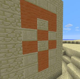 Chiseled sandstone where