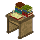 Bibliocraft - Desk - Oak With Books