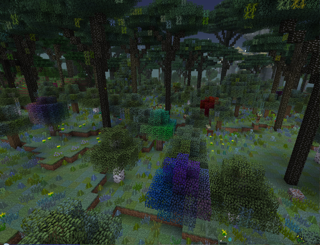 minecraft magical forest