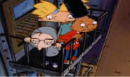 Mickey, Arnold, and Gerald balcony