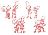 36 Group Poses 02 Hey Arnold Nath Milburn