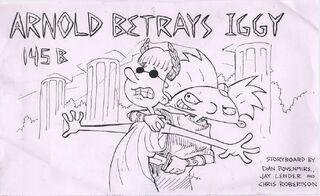 Iggyus Caesar (Arnold Betrays Iggy storyboard cover)