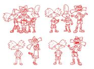 36 Group Poses 03 Hey Arnold Nath Milburn