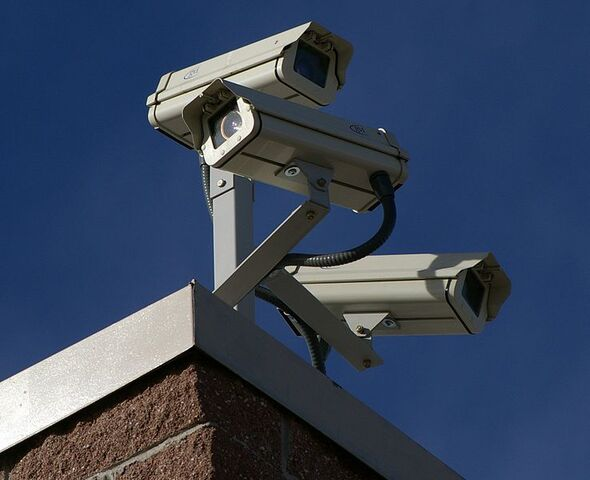 File:Three Surveillance cameras.jpg