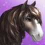 Horse -clydesdale- Tier3 black sabino