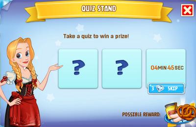 Quiz stand