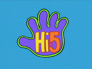Hi-5 logo 1999-2005 screen version
