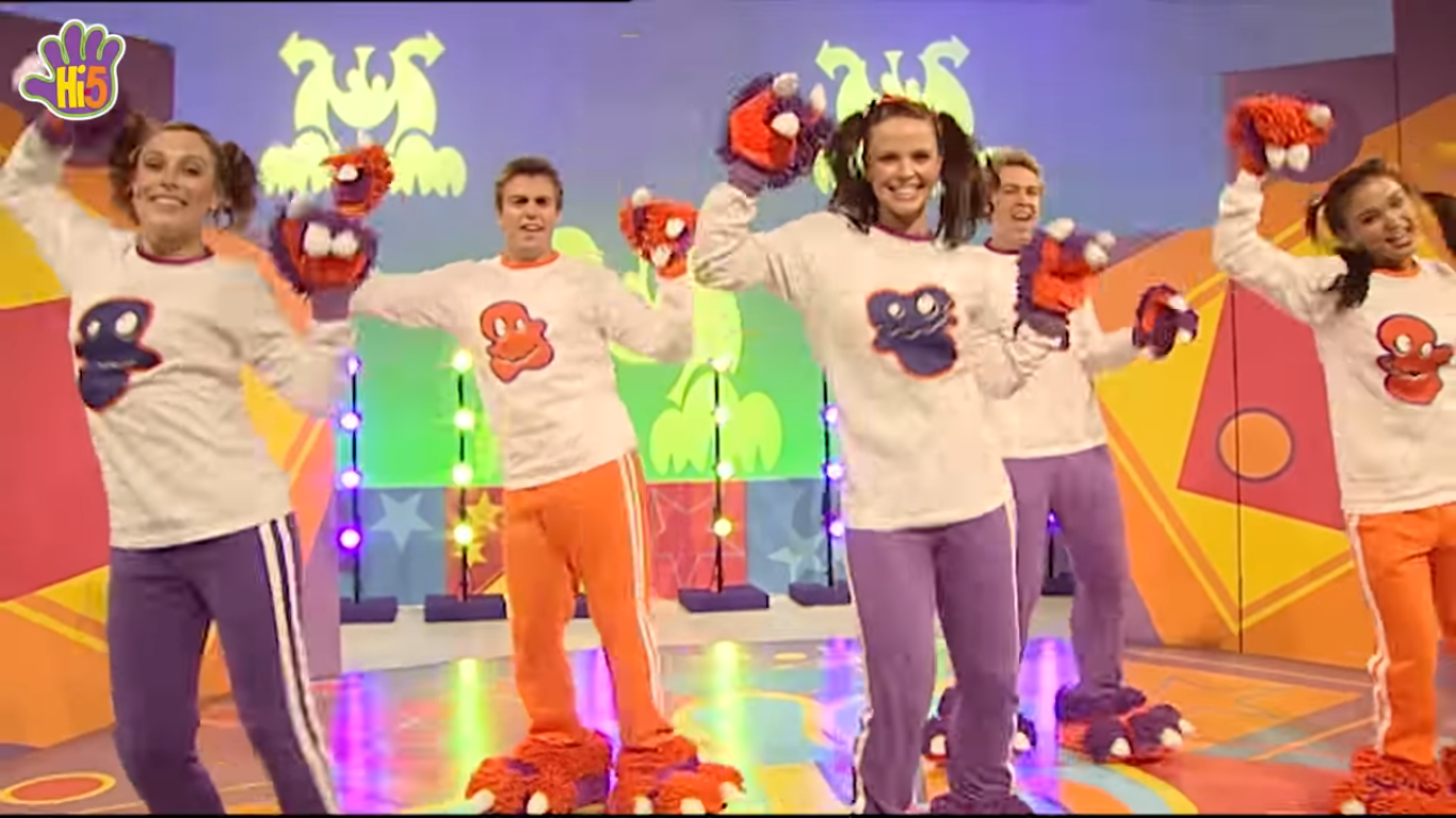 image hi 5 happy monster dance 2 png hi 5 tv wiki fandom