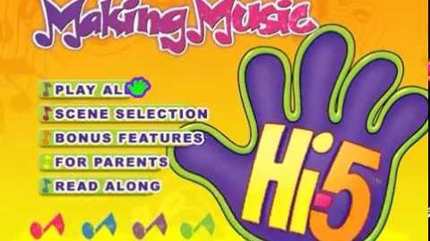 Hi-5, Vol. 3 Making Music 2007 DVD Menu Walkthrough